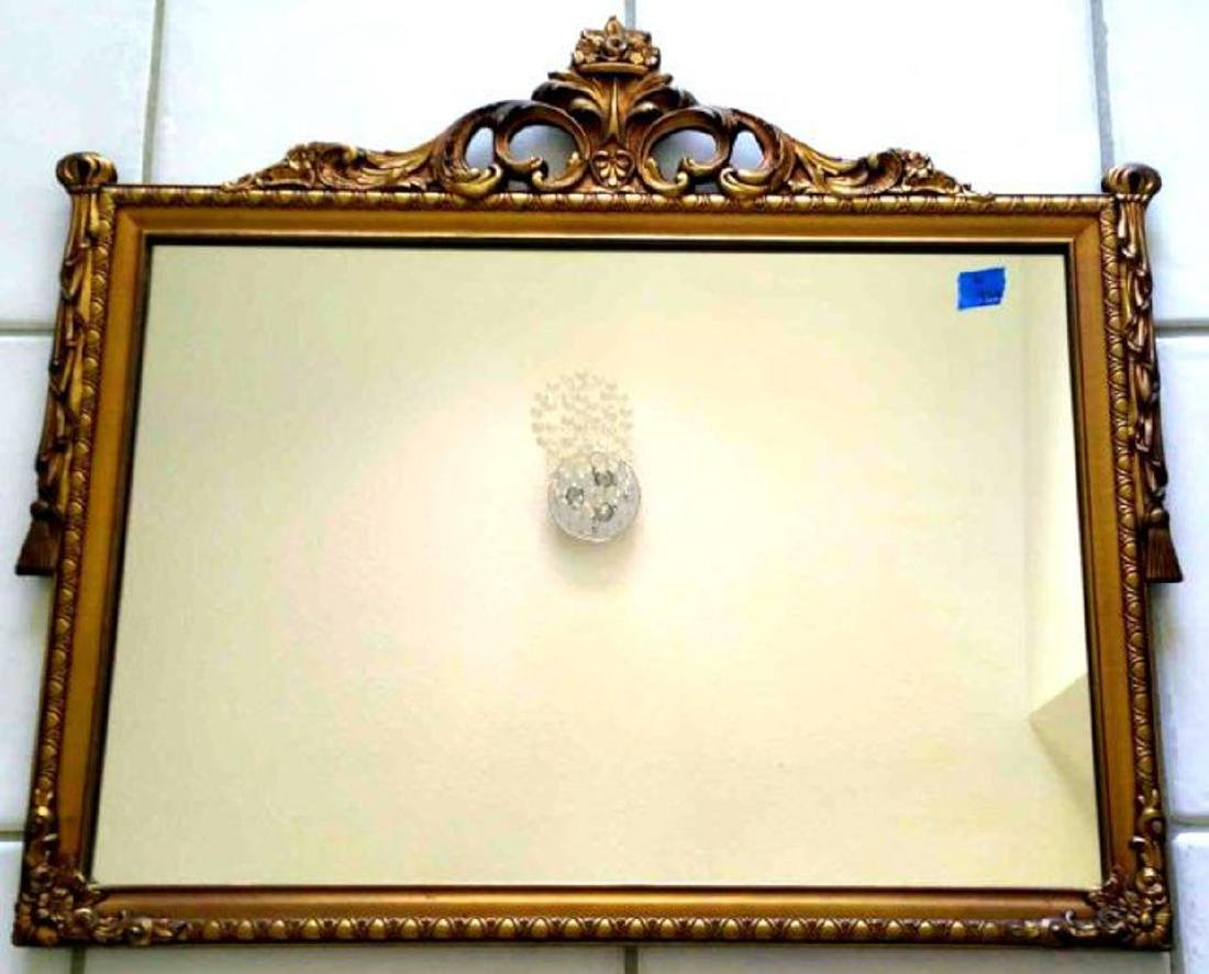 GOLD GILT WOOD FRAME MIRROR,  LOUIS XVI S