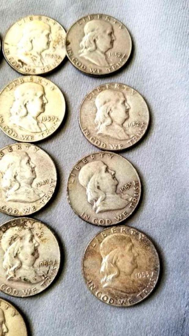 17 FRANKLIN HALF DOLLARS - 4
