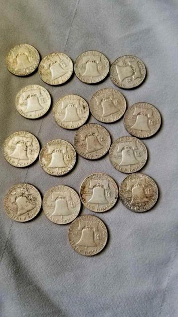 17 FRANKLIN HALF DOLLARS - 5