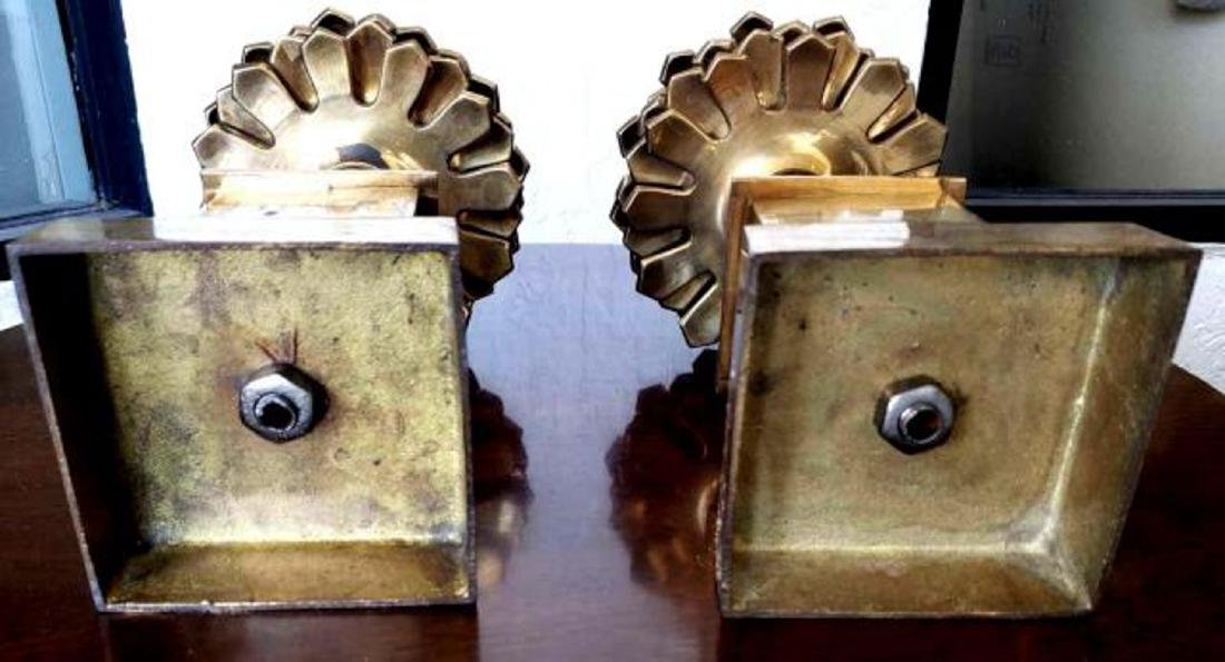 """MOTTAHEDEH - Pair 16"""" Brass Colonial Pinecone Pine Cone - 5"""