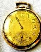 Waltham Riverside Pocket Watch 21 Jewels 14k GF