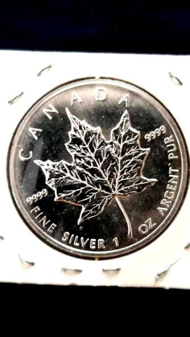 1993 FIVE DOLLAR CANADA COIN, FINE SILVER - 2