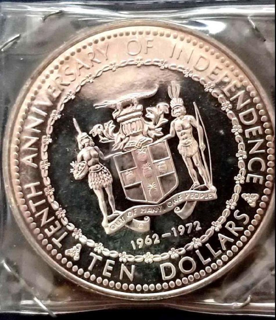 .925 SILVER JAMAICA Commemorative Coin, 10th - 2