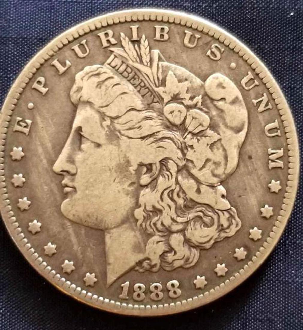 .900 SILVER 1888 O MORGAN SILVER DOLLAR