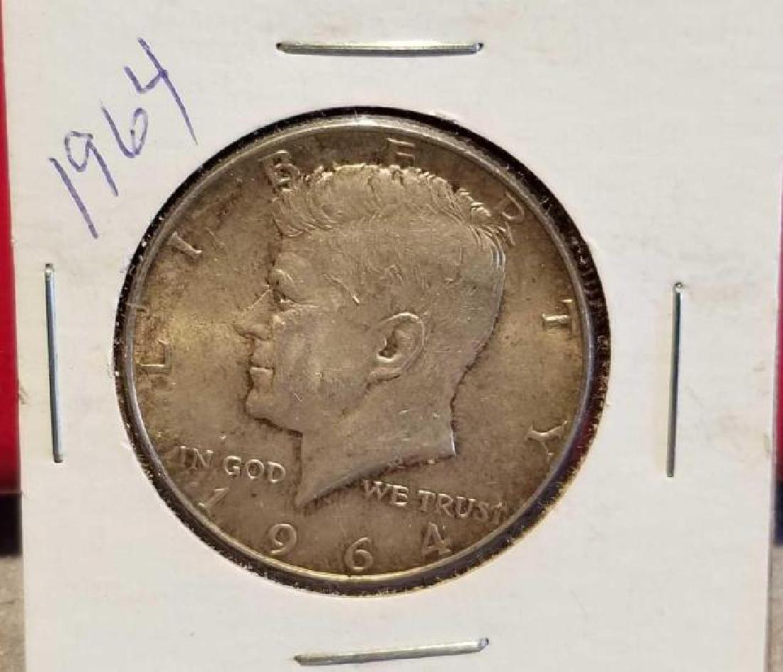 THREE (3) 1964 KENNEDY HALF DOLLARS, .900 SILVER  No - 2