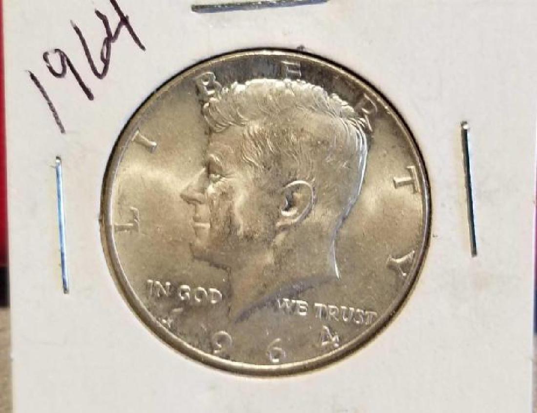 THREE (3) 1964 KENNEDY HALF DOLLARS, .900 SILVER  No - 3