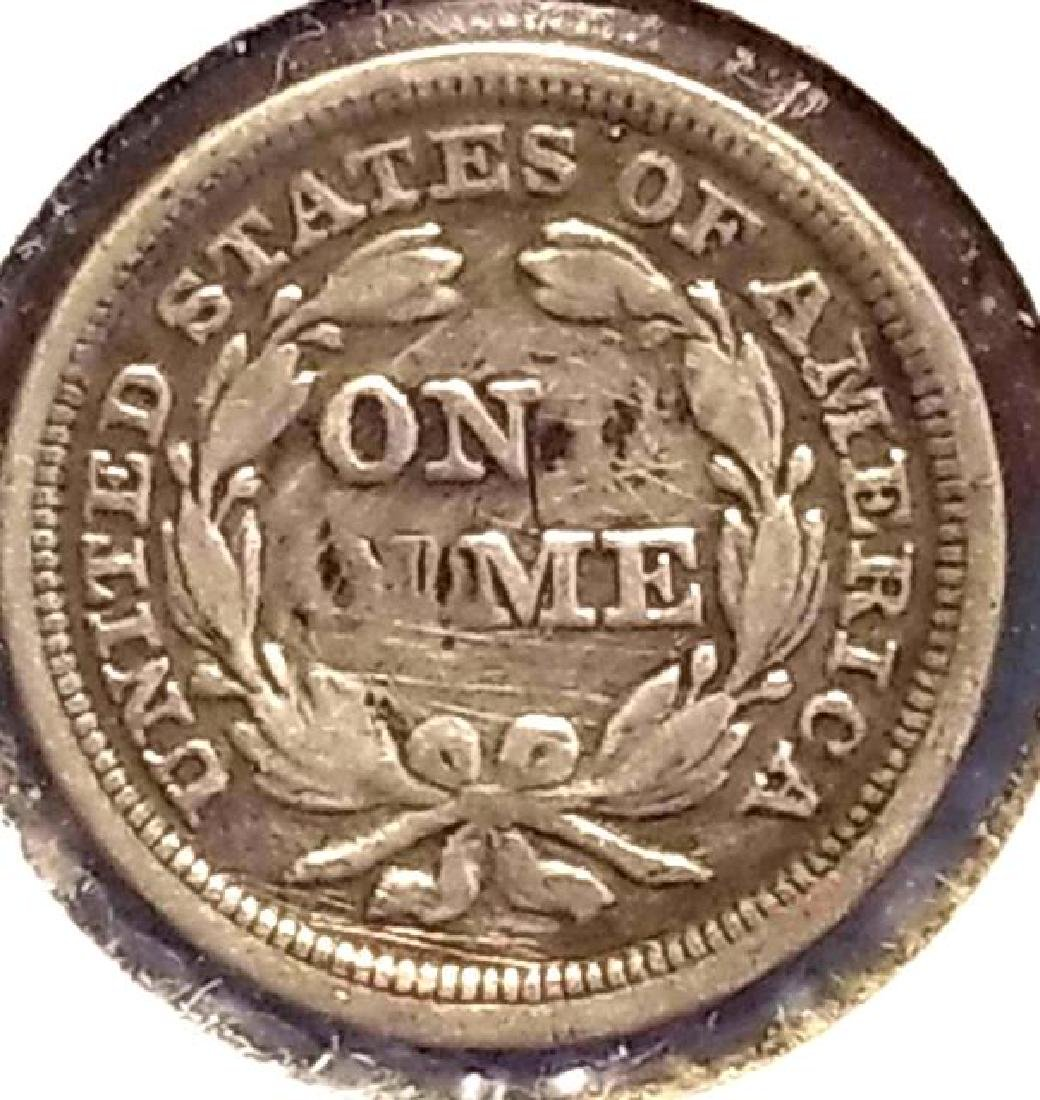 1858 SEATED LIBERTY ONE DIME - 3