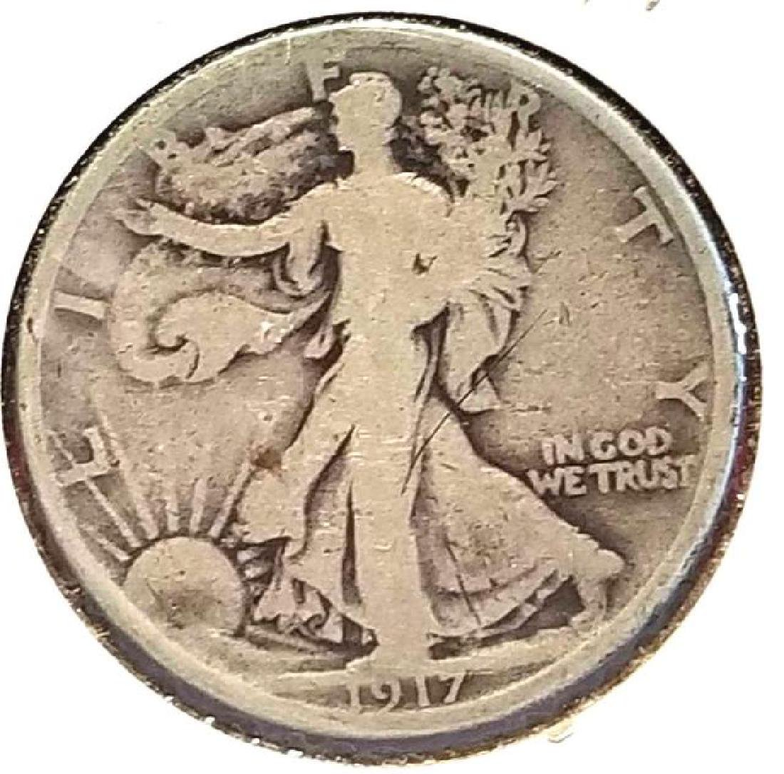 THREE (3) WALKING LIBERTY HALF DOLLARS - 2