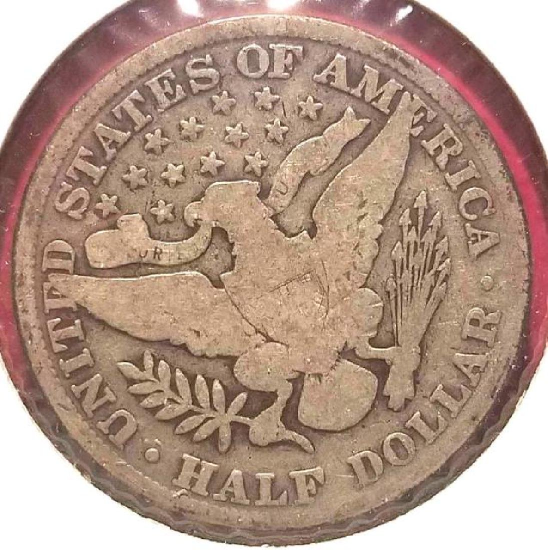 1900 Barber half dollar   In circulated condition - 3