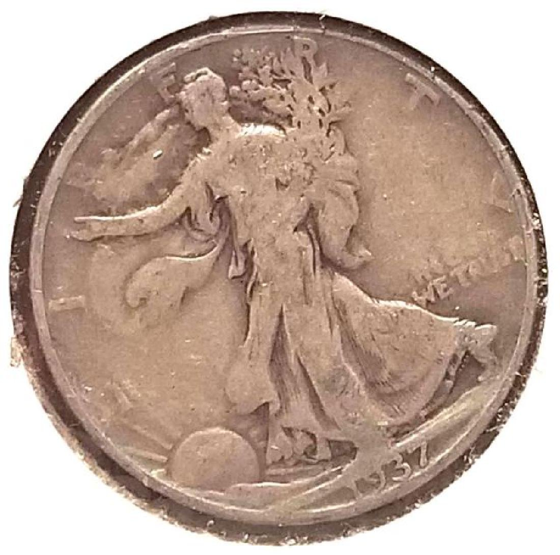 1937, 1937-S, 1941-S WALKING LIBERTY SILVER HALF DOLLAR - 3