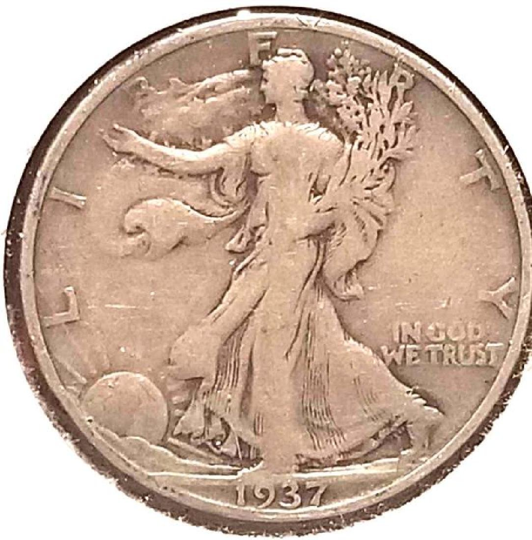1937, 1937-S, 1941-S WALKING LIBERTY SILVER HALF DOLLAR - 4