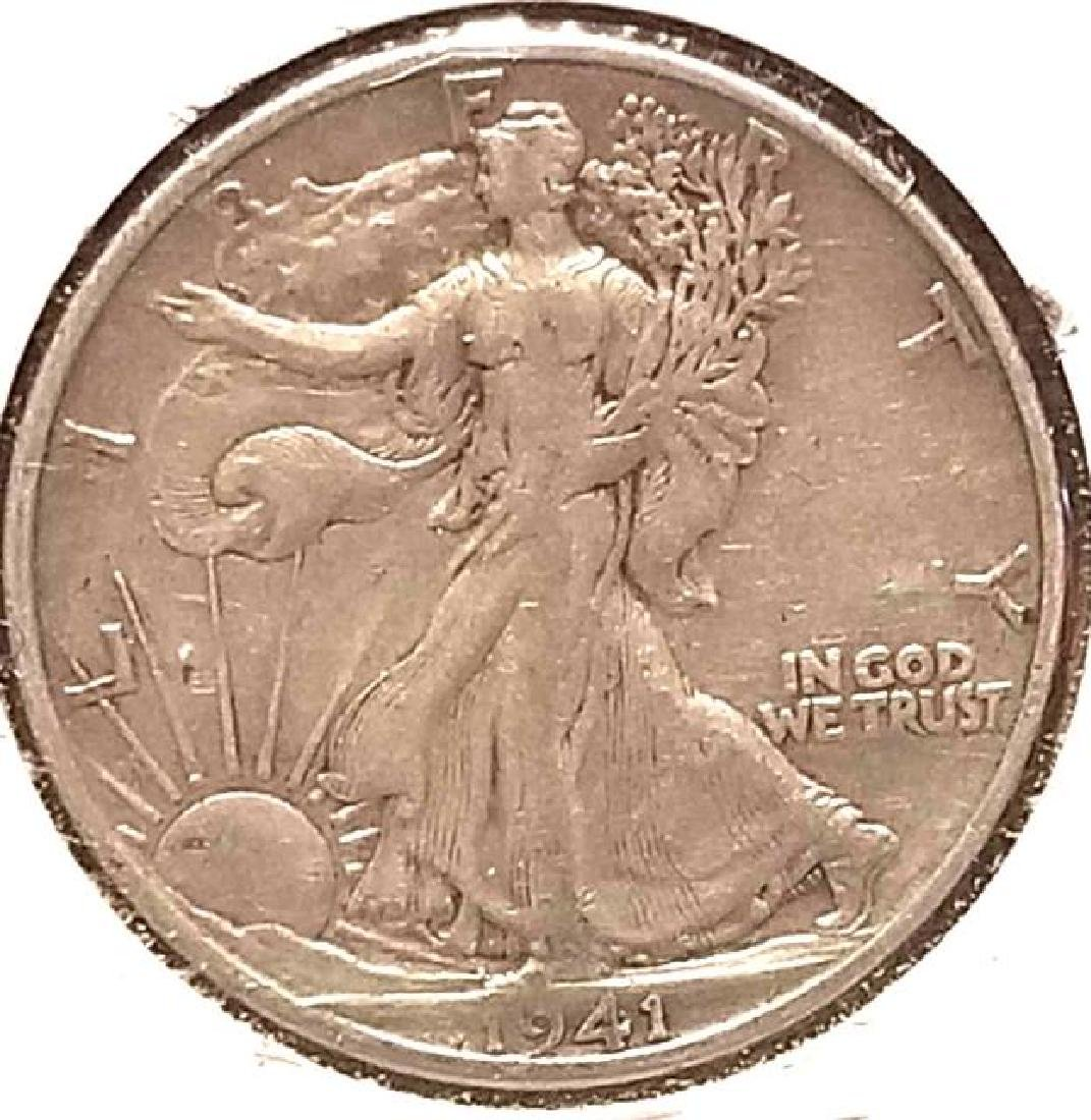 1937, 1937-S, 1941-S WALKING LIBERTY SILVER HALF DOLLAR - 5