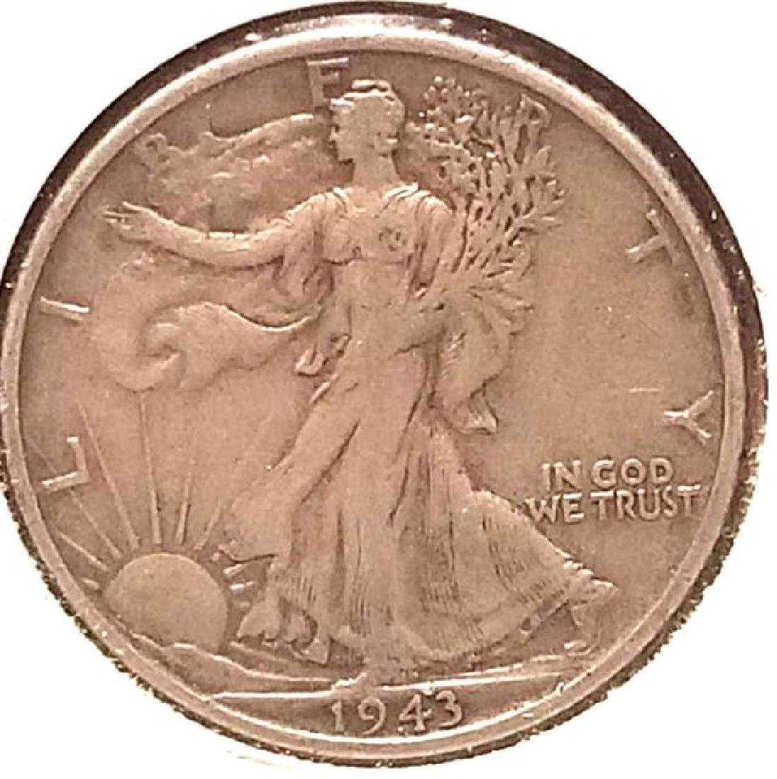 THREE (3) PIECES OF 1943-S WALKING LIBERTY - 3