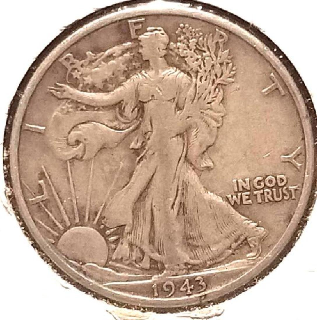 THREE (3) PIECES OF 1943-S WALKING LIBERTY - 4