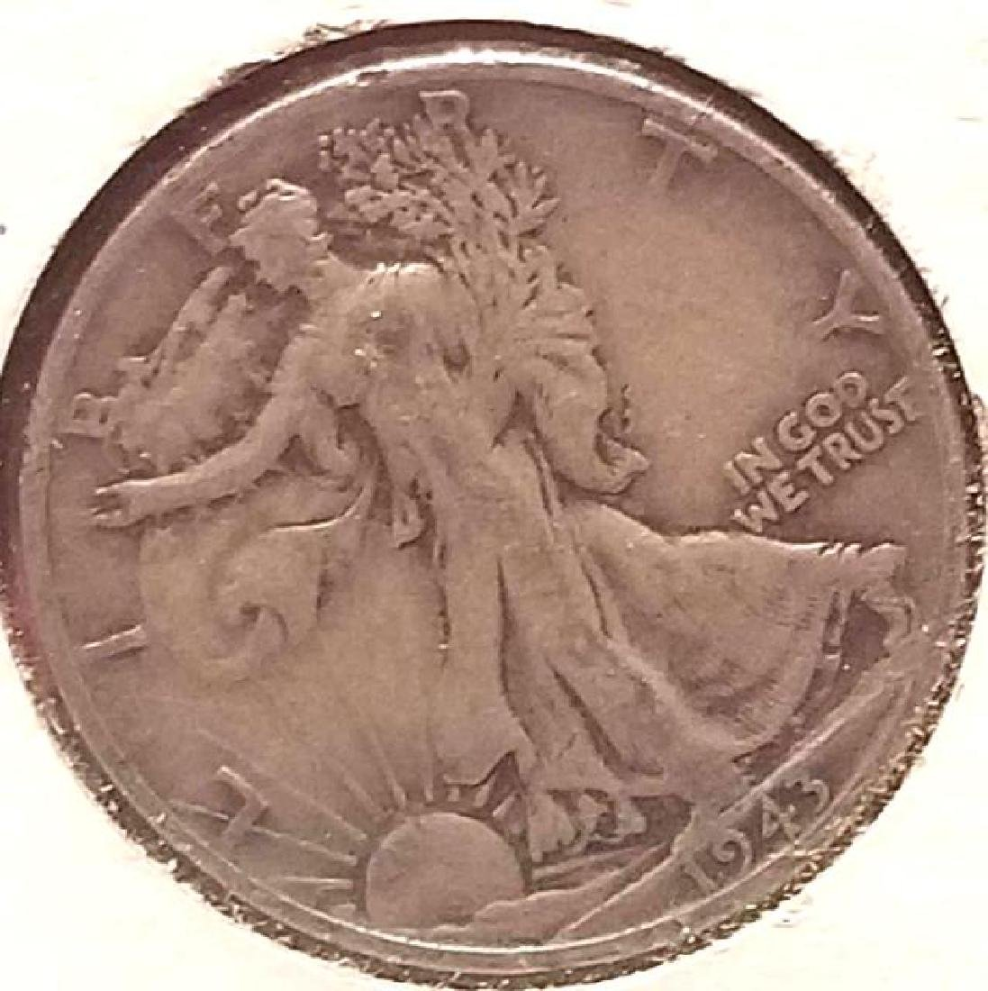 THREE (3) PIECES OF 1943-S WALKING LIBERTY - 5