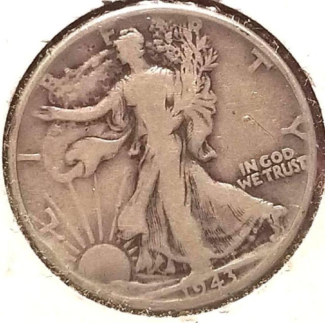 THREE (3) 1943 WALKING LIBERTY HALF DOLLARS - 3