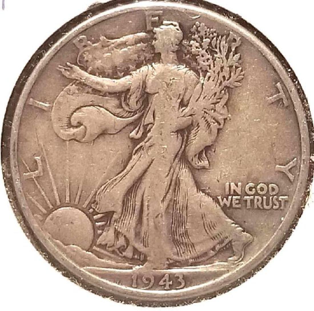 THREE (3) 1943 WALKING LIBERTY HALF DOLLARS - 5