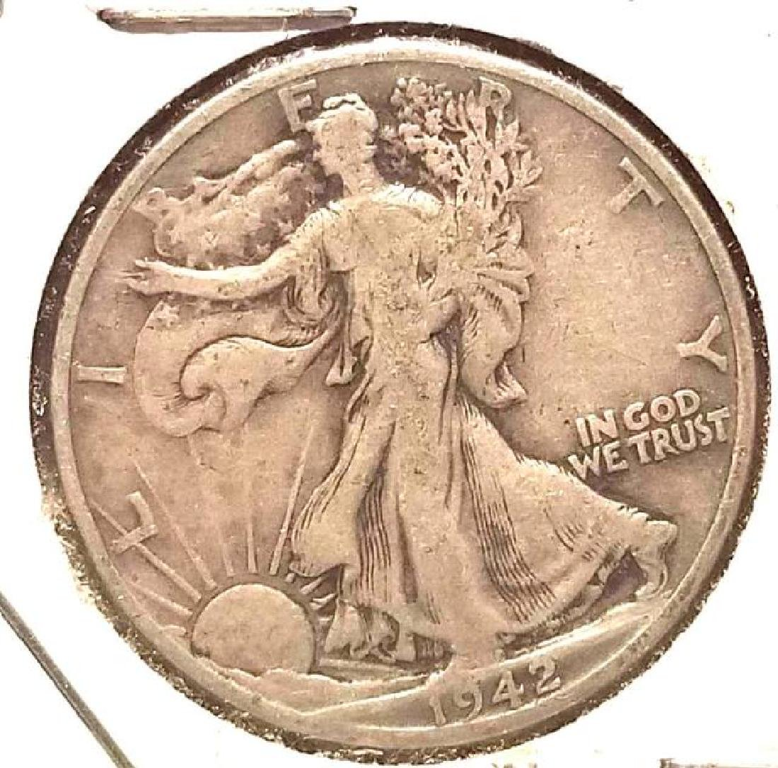 1942-D, 1942-S, 1943 WALKING LIBERTY HALF DOLLAR - 3
