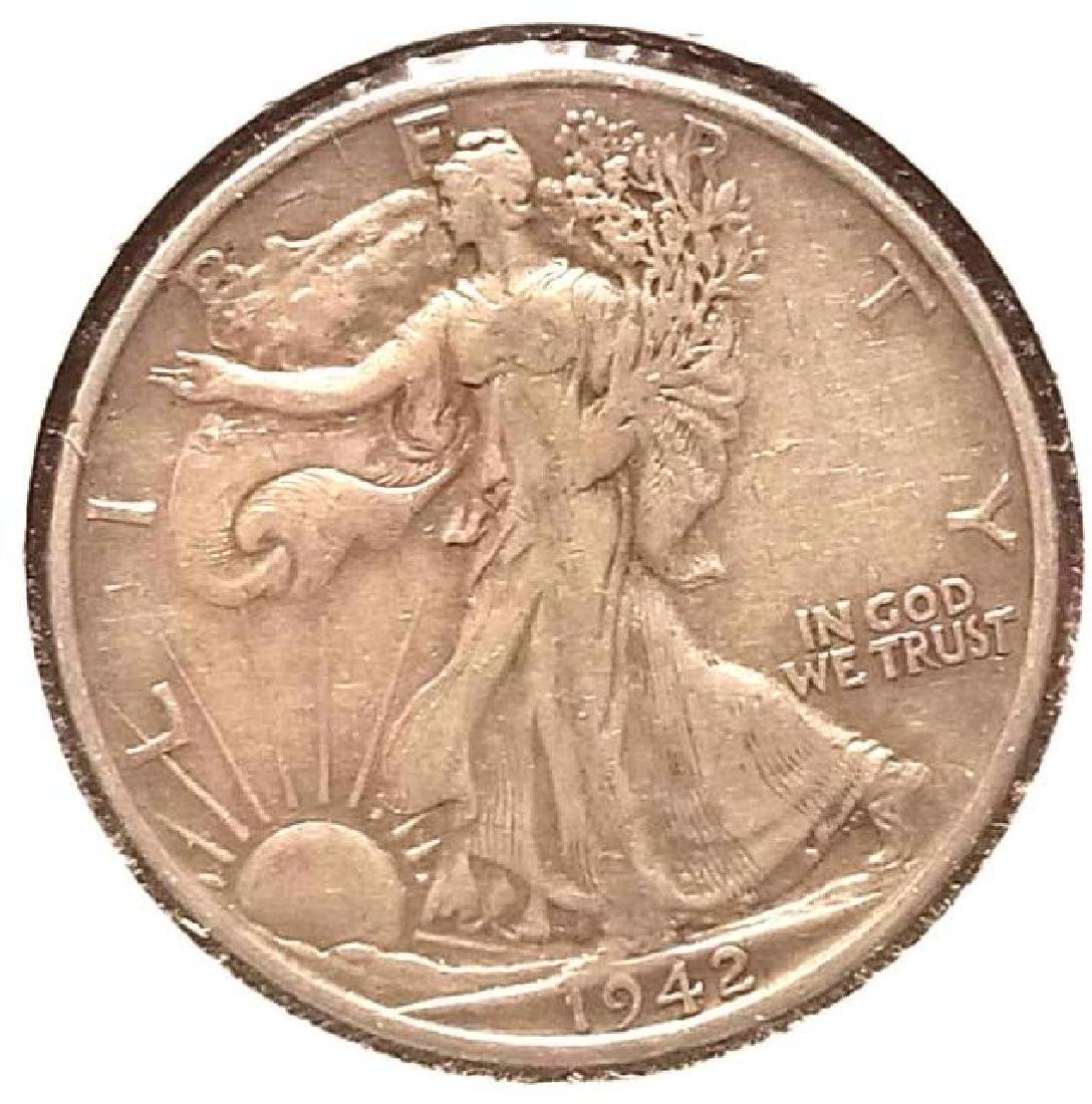 1942-D, 1942-S, 1943 WALKING LIBERTY HALF DOLLAR - 5