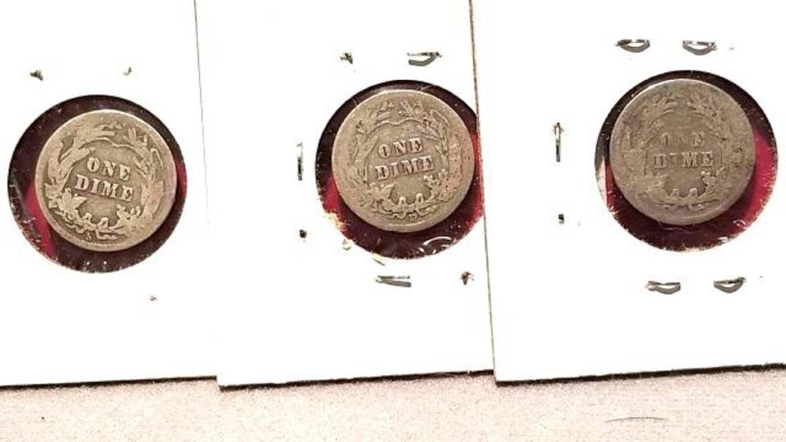 BARBER DIME LOT, 23 COINS FROM 1911-1916  1911-D (2) - 5