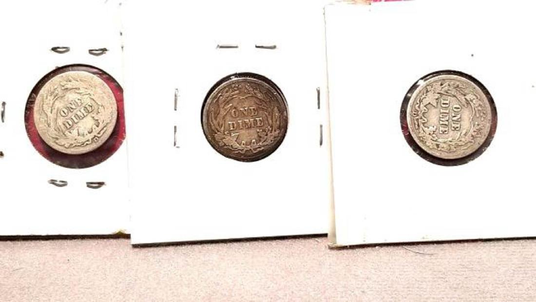 BARBER DIME LOT, 23 COINS FROM 1911-1916  1911-D (2) - 7