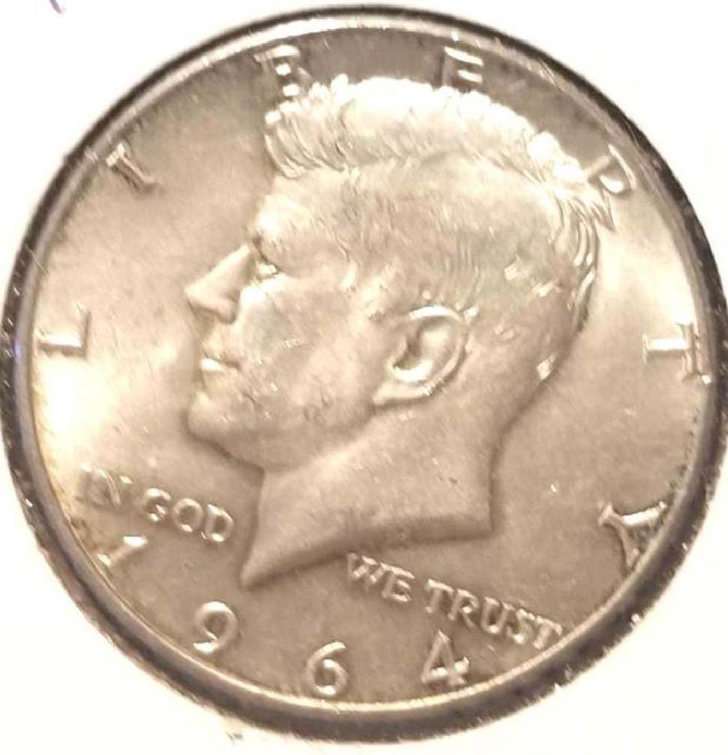 THREE (3) 1964 KENNEDY SILVER HALF DOLLARS - 2