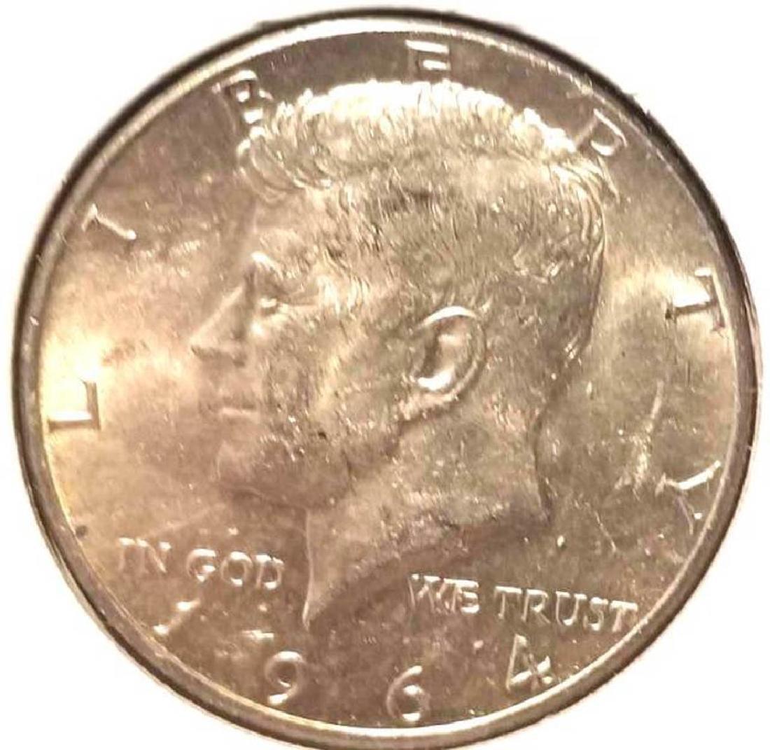 THREE (3) 1964 KENNEDY SILVER HALF DOLLARS - 4