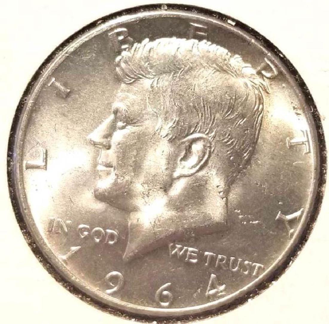 THREE (3) 1964 KENNEDY SILVER HALF DOLLARS - 6