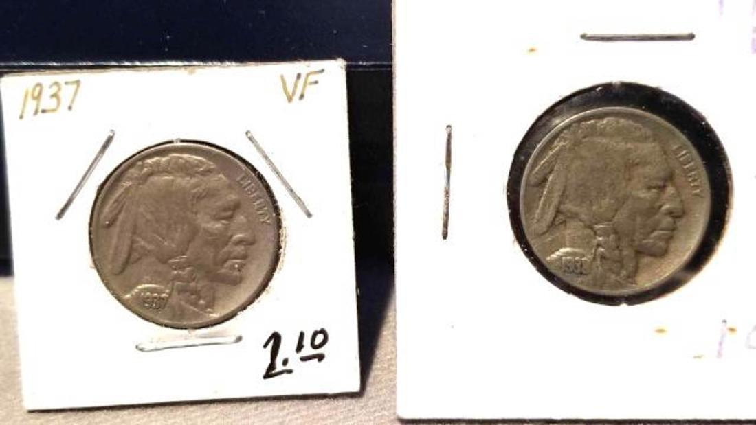 12 BUFFALO NICKELS 1937-1938  copper nickel - 10