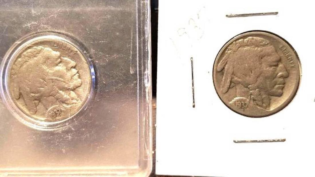 12 BUFFALO NICKELS 1937-1938  copper nickel - 2