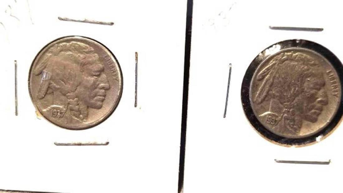 12 BUFFALO NICKELS 1937-1938  copper nickel - 4