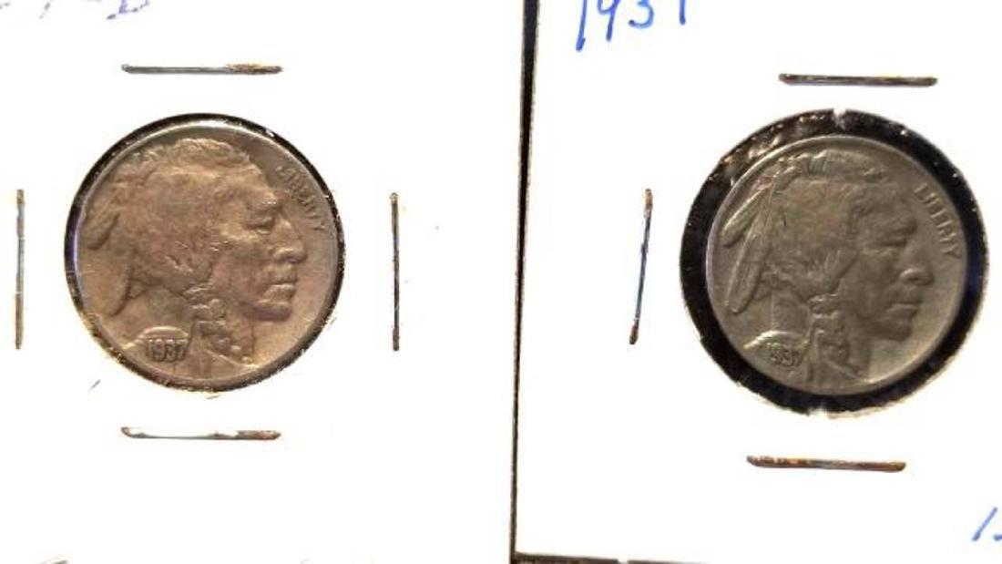 12 BUFFALO NICKELS 1937-1938  copper nickel - 6