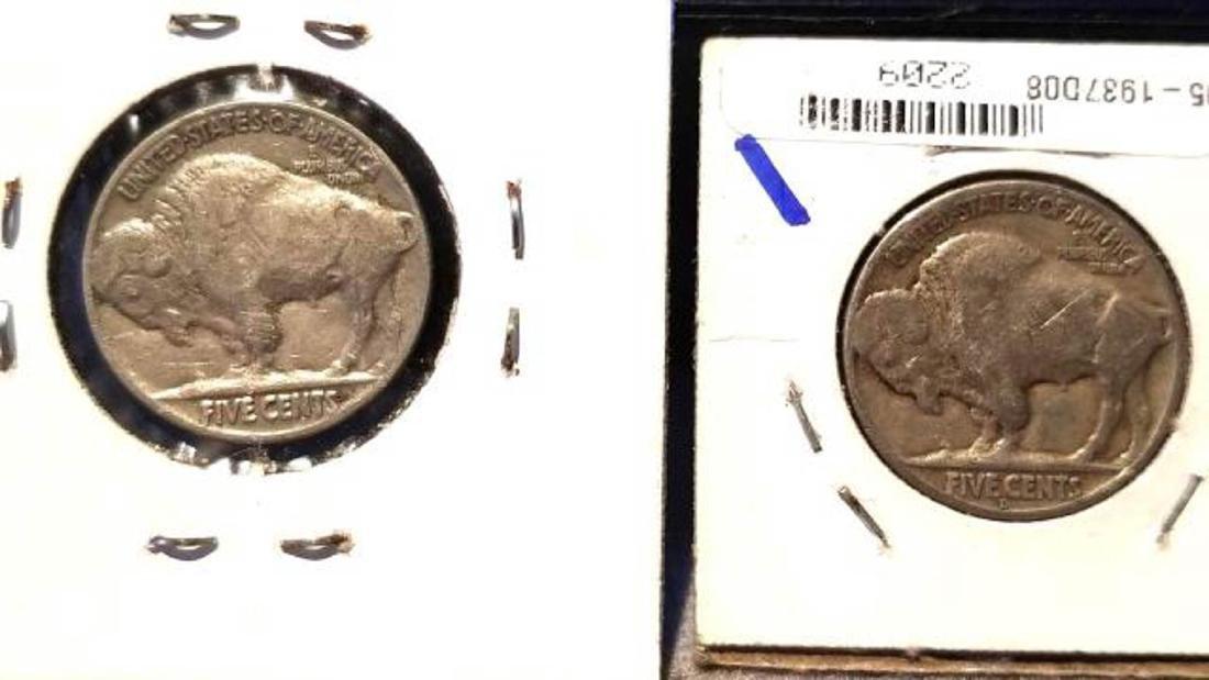 12 BUFFALO NICKELS 1937-1938  copper nickel - 9