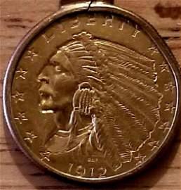 1912 Quarter Eagle Gold Coin