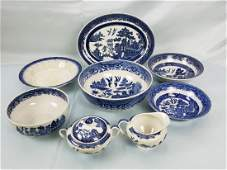 ADDERSLEYS and JOHNSON BROS. Blue Willow EIGHT PIECES