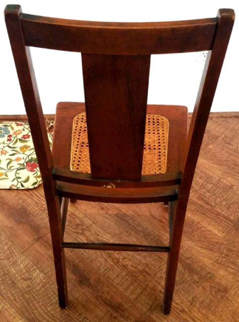 SIMPLE WOOD CHAIR, CANED SEAT - 4
