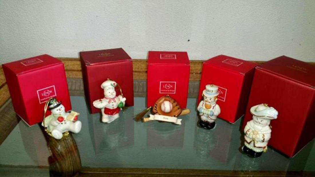 Five Assorted LENOX Porcelain Figures in Original Boxes