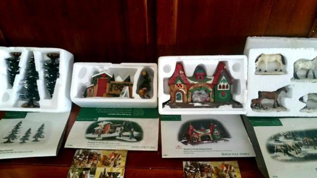 DEPT. 56 Four Boxed Sets of Christmas Porcelain Houses, - 2