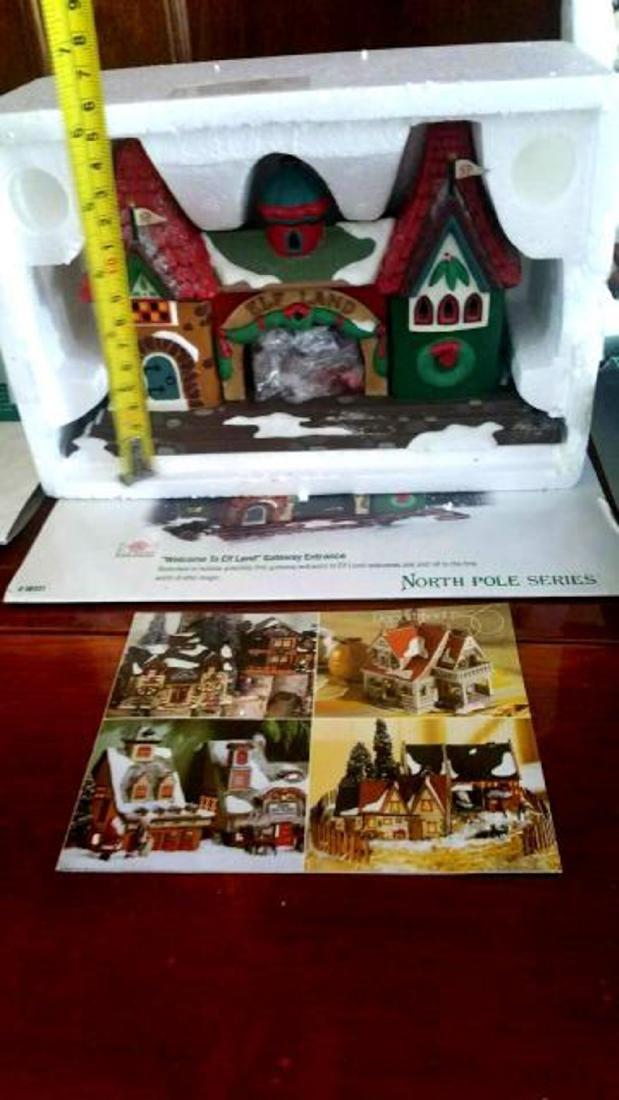 DEPT. 56 Four Boxed Sets of Christmas Porcelain Houses, - 3