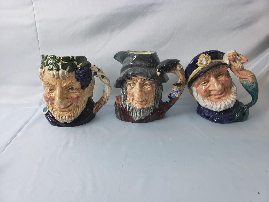 ROYAL DOULTON TOBY JUG lot of 3