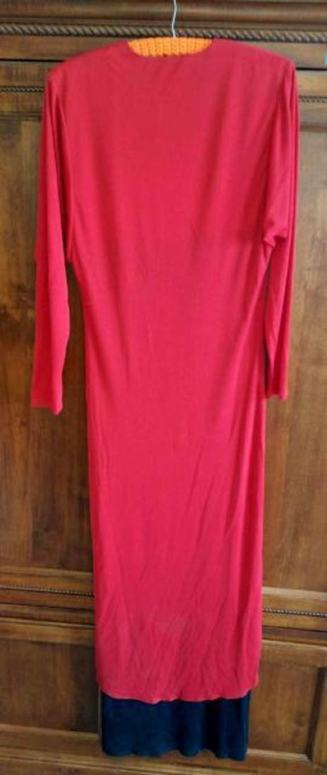 Vintage John Marks London Red Black Evening Wear with - 3