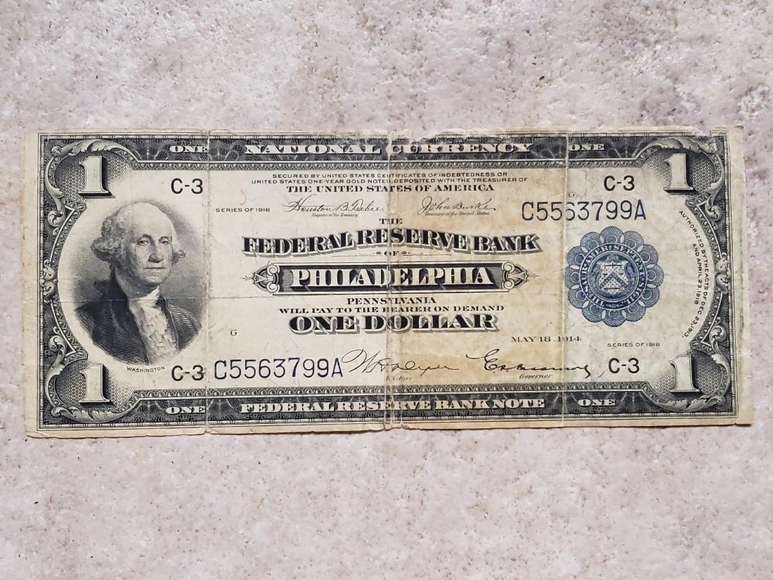 $1 Philadephia 1914 Federal Reserve Note