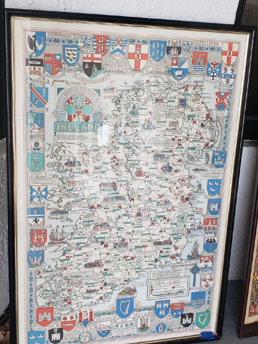 2 MAPS FRAMED, SCOTLAND OF OLD, IRELAND, BULLOCK MAPS - 3
