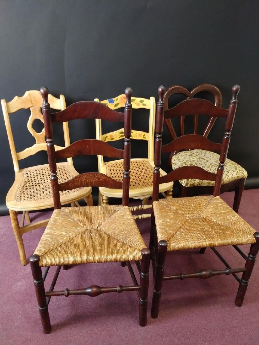 VINTAGE ASSORTED CHAIRS