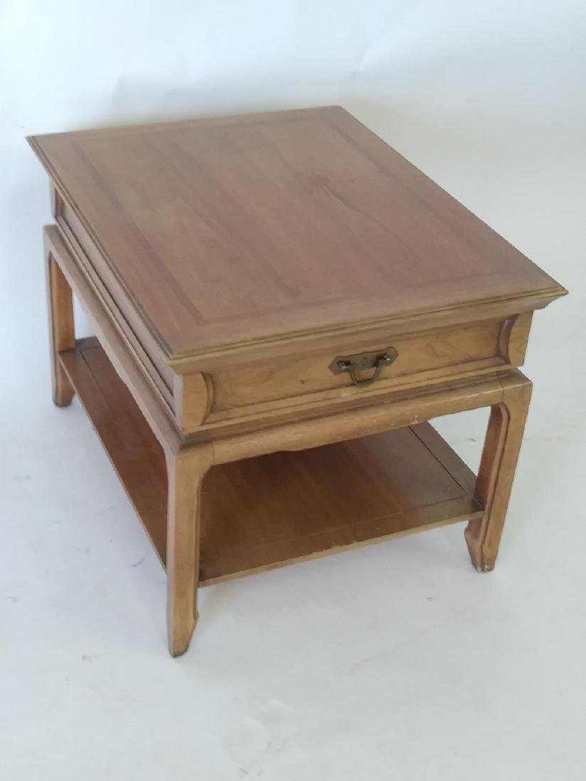 THOMASVILLE SOLID WOOD END TABLE with drawer