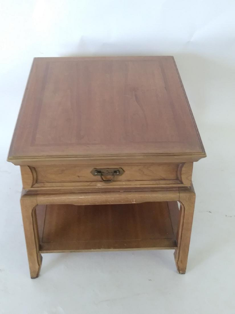 THOMASVILLE SOLID WOOD END TABLE with drawer - 2
