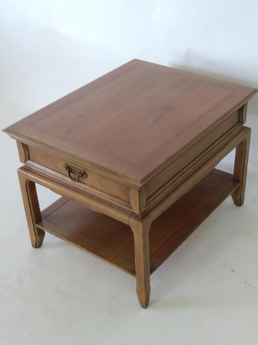 THOMASVILLE SOLID WOOD END TABLE with drawer - 3