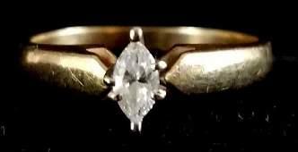 10k Marquee Diamond ring.