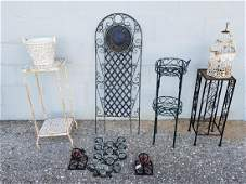 METAL PLANT STAND LOTMETAL CANDLE HOLDERS