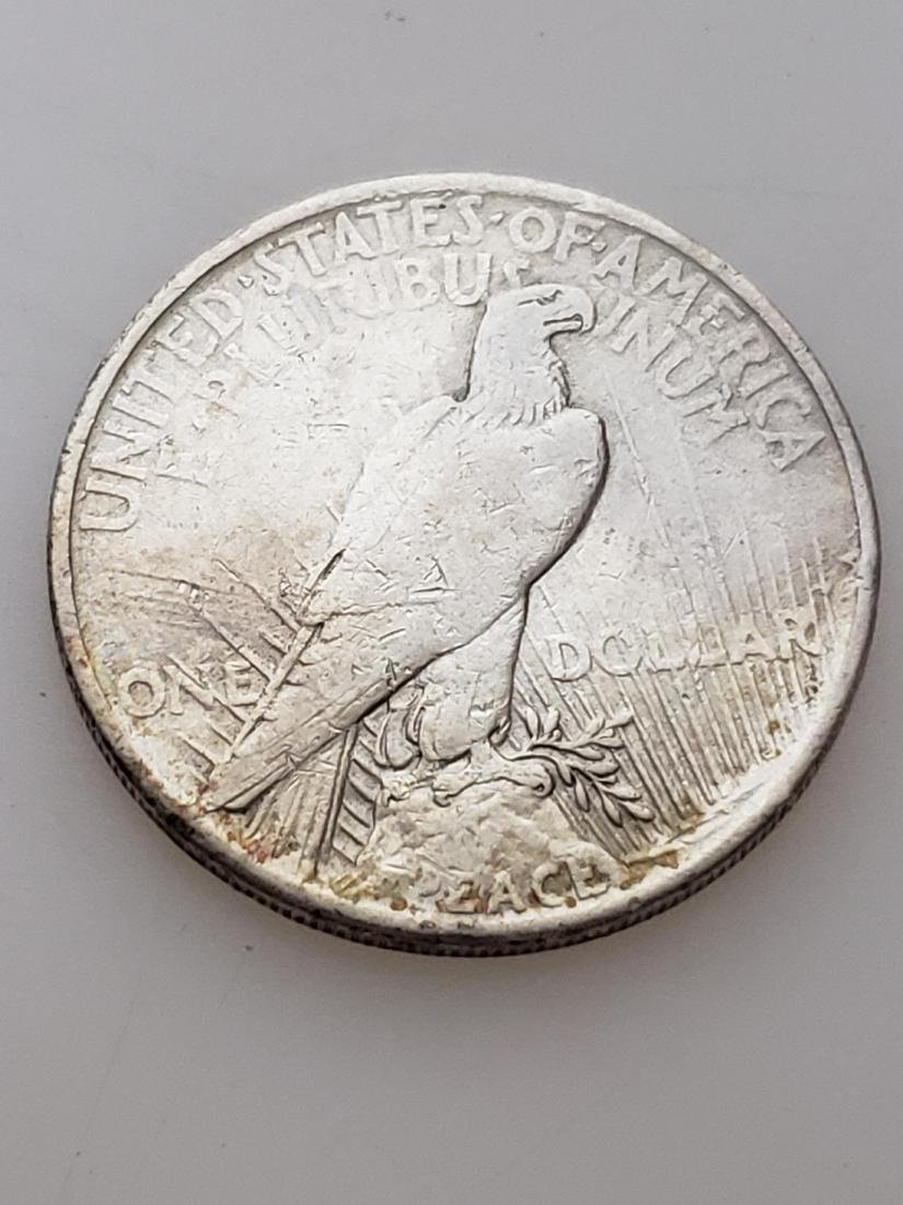 1921 HIGH RELIEF PEACE DOLLAR - 90% silver - 2
